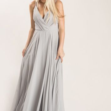 Petite Cassidy Grey Flowy Maxi Dress