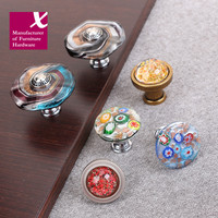 High-Grade Art Color Decorative Pattern Handles Cabinet Shoe Ark Originality Coloured Glaze Shake Pen Rural Wine Ark Knobs Pulls