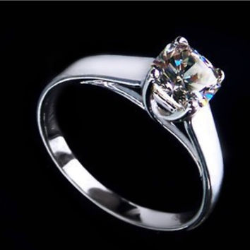 1 Carat Solid Gold 750 New Fashion Style Great Synthetic Diamond Women Wedding Ring Best Simulate Diamond Brilliant As Real