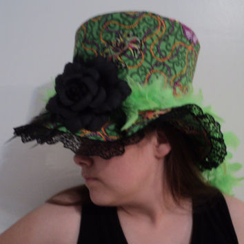 mjcreation hat costume burlesque fantasy ready for shipping
