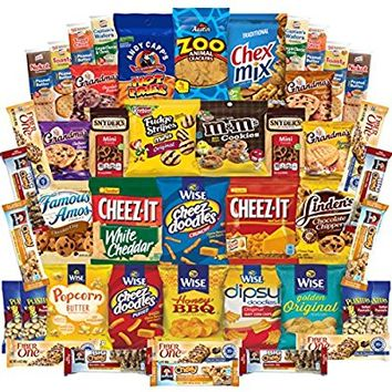 Ultimate Snacks Cookies Chips Crackers Candies Nuts & More Variety Pack Assortment (45 Count)