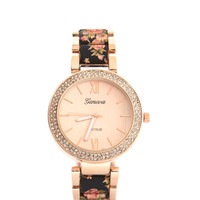 Floral Of The Story Jeweled Watch