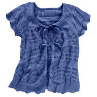 Short sleeve crochet knit cardigan $29.99