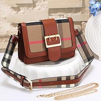 Perfect Burberry Women Fashion Leather Chain Satchel Shoulder Bag Handbag Crossbody