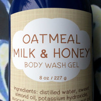 Oatmeal Milk and Honey Body Wash Gel ~ Shower Gel ~ Liquid Body Soap ~ Body Shampoo