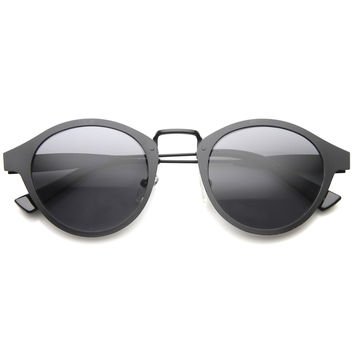 Dapper Indie Horned Rim Vintage Sunglasses 9736