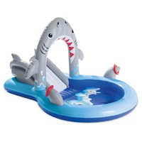 "Intex 93"" X 62.5"" X 52.5"" Shark Play Center Inflatable Pool with Sprayer"