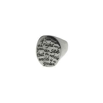 Secret Garden Sterling Silver Quote Ring
