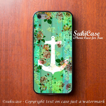 iPhone 6 Case anchor on Flower Wooden Floor