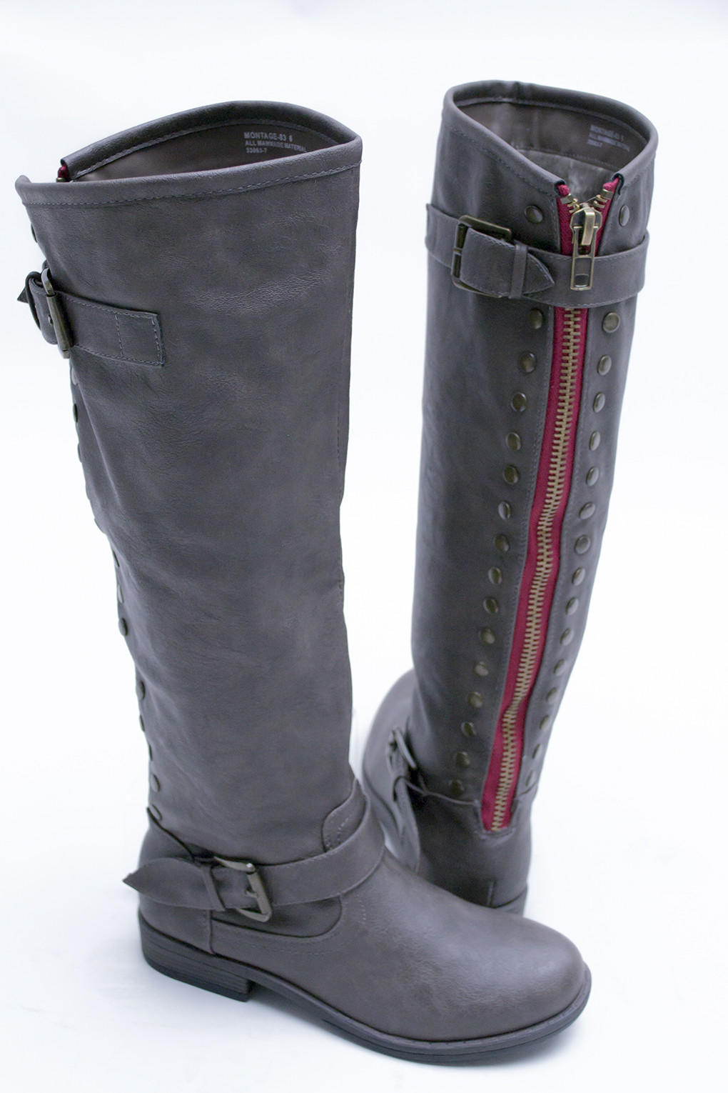 c585cf4c172a7 Montage Red zipper Boots from Siloe Boutique | Things One Wears.