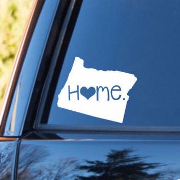 Oregon Home Decal | Oregon Decal | Homestate Decals | Love Sticker | Love Decal  | Car Decal | Car Stickers | 077