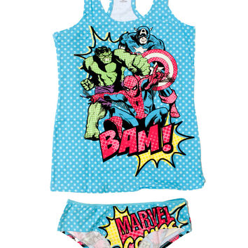 Juniors Avengers Tank and Panty Set