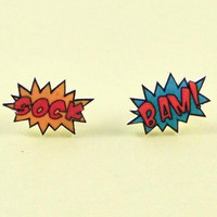 Comic Book Earrings Sound Effects