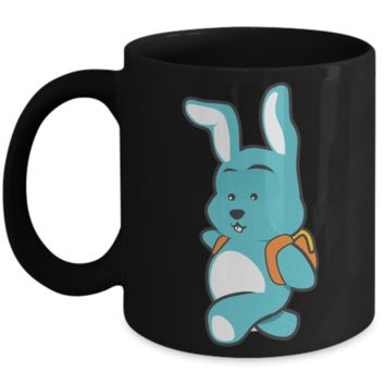 2017 Easter Ears Coffee Mug Gifts For Children Gift For Kids Holiday Funny Chocolate Egg Hunt School Mugs Cups Pencil Holder & Candy Jar Black