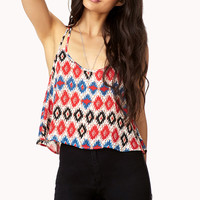 Southwestern Flared Crop Top