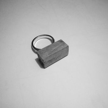 Concrete ring/Cement ring/Concrete jewelry/Minimalistic jewelry/Unique ring/Statement ring