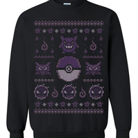 Pokemon Gotta Stitch 'Em All Ghost Ugly Christmas Sweater sweatshirt Unisex Adults