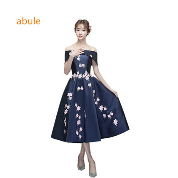 abule hort Evening Dresses Real Photo Robe De Soiree Amazing Embroidery Party Dress Prom Evening Gowns Dress Prom Dresses 2017