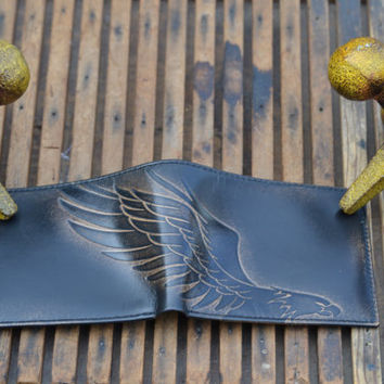 EAGLE Embossed Leather Bifold Wallet