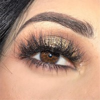 1 pair 3D Handmade Mink False Eyelashes Super long Thick and Messy with Natural Popular for Beauty Makeup fake Eye Lashes Extens