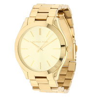 Michael Kors MK3179 Women's Slim Runway Gold Plated Steel Watch