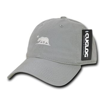 Cali Bear Grey Dad Hat by Cuglog