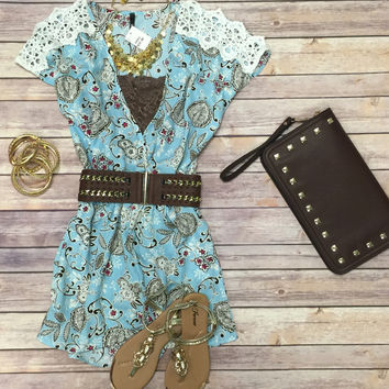 Picking Up Paisley Romper
