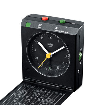 Braun Travel Alarm Clock - BNC-5 - Black