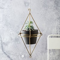 Hanging Wire Pot Bracket - Plated Brass
