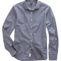Spread Collar in Navy Heather Gingham