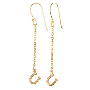 Lucky Horseshoe Dangle Earrings