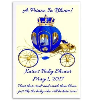 8 Prince Baby Shower Seed Favors Carriage
