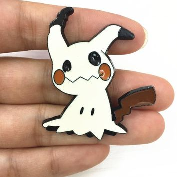 1 Piece Cute Janpanese Anime  Sun & moon Mimikyu badge metal pins alloy Gift Figure toysKawaii Pokemon go  AT_89_9
