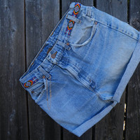 50% off this item, enter LOVE99 at checkout.  V i n t a g e in a Box #9 Levi Jean High Waisted Shorts and Butterfly Anklet