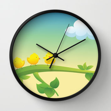 Little Feathered Friends Wall Clock by Texnotropio