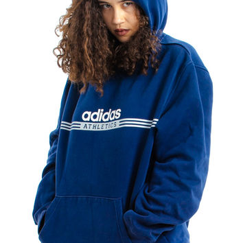 Vintage 90's Adidas Classic Hoodie - One Size Fits Many