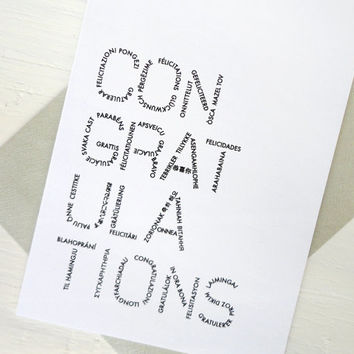 Congratulations greeting card many languages mazel tov felicidades graduation wedding