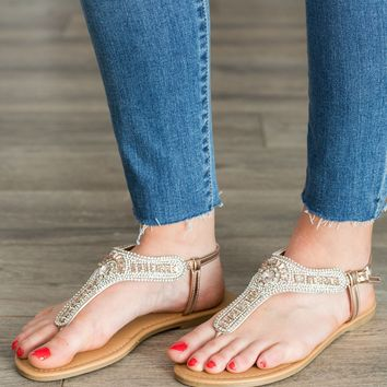 Shine Bright Sandal- Rose Gold