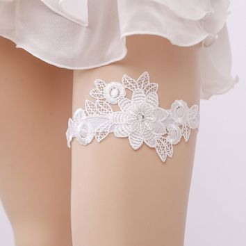 gtglad Lace Wedding Garter flowers Women's Sexy Garters romantic Marriage Ceremony Bridal Thigh ring suspenders accessories