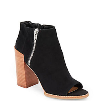 Dolce Vita - Mercy Suede Open-Toe Ankle Boots