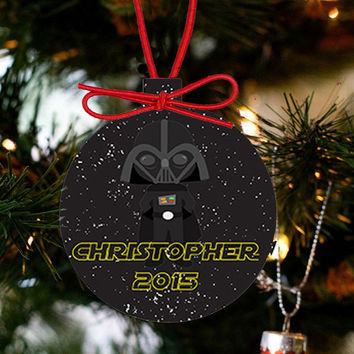 Personalized Christmas Star Wars Ornament - Darth Vader
