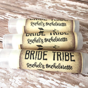 Bride Tribe Bachelorette Party Favors - Chapstick - Wedding Party Favors - Bridal Party - Bachelorette - Lip Balm - Hangover Kit - Hen Party