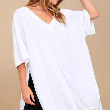 Free People City Slicker White Tunic Top
