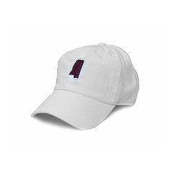 MS Starkville Gameday Hat in White by State Traditions