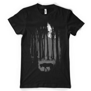 Wolf in the Wood Unisex T-shirt