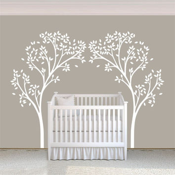 A12  Tree Canopy Portal Wall Decal Tree Wall Sticker Vinyl Nursery Wall Decor Wall Graphic Home Art Decoration White
