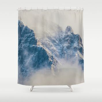 Misty Mountain Shower Curtain by Gallery One