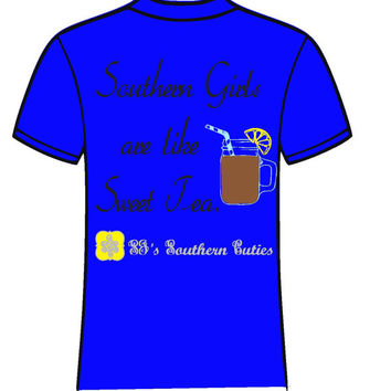 Monogrammed Southern Girl are like Sweet Tea Short Sleeve T Shirt