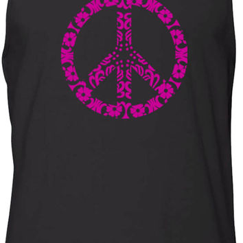 Flower Power (Pink) Tank-Top T-Shirt