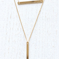 Bar & Plate Necklace